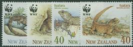 NZ SG1590-3 Tuatara set of 4